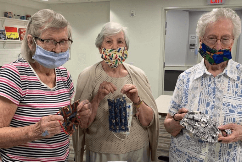 Miriam Looker makes more than 3,000 masks for local nursing homes, community